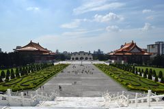 The view from Chiang Kai Sek Memorial Hall in Taipei, Taiwan Royalty Free Stock Photos