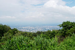 View of Chiang Mai cityscape from Wat Phra That Doi Suthep Royalty Free Stock Image