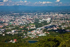The view of Chiang Mai town, Thailand Royalty Free Stock Photo