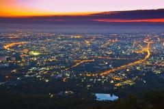 View of Chiangmai city Royalty Free Stock Image