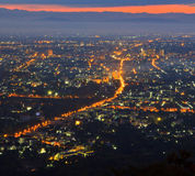 View of Chiangmai city Stock Photos