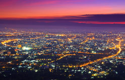 View of Chiangmai city Stock Images