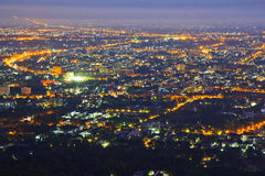 View of Chiangmai city Stock Photography