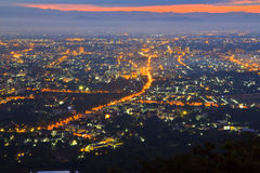 View of Chiangmai city Royalty Free Stock Images