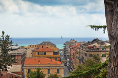 View of Chiavari and the sea, Italy Royalty Free Stock Photos