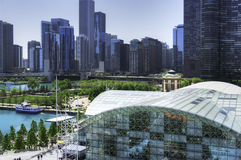 View of Chicago from Navy Pier Stock Photos