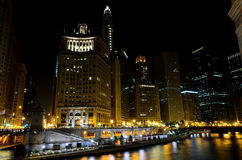 View on Chicago at night Stock Photo