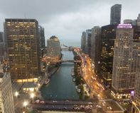 A View of the Chicago River stock photos