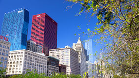View of chicago's buildings from Grant Park Stock Images