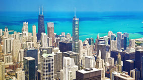 View of Chicago from the Willis Tower Stock Image
