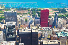 View of Chicago from the Willis Tower Royalty Free Stock Photo