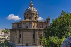 View at Chiesa dei Santi Luca e Martina in Rome, Italy stock image