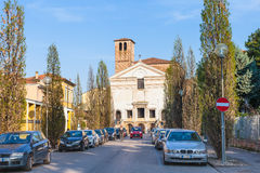 View of Chiesa di San Sebastiano from Viale Royalty Free Stock Image