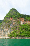 View in Chiew Larn Lake, Khao Sok National Park, Thailand. Royalty Free Stock Photo