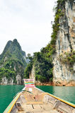 View in Chiew Larn Lake, Khao Sok National Park, Thailand. Stock Image
