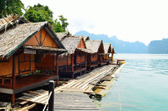 View in Chiew Larn Lake, Khao Sok National Park, Thailand. Royalty Free Stock Photography