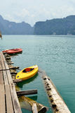 View in Chiew Larn Lake, Khao Sok National Park, Thailand. Stock Photography