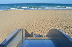 Childs Slide. A Slide on a quiet beach in Spain stock image