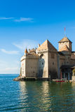 View of Chillon Castle in Montreux, Switzerland Royalty Free Stock Photos