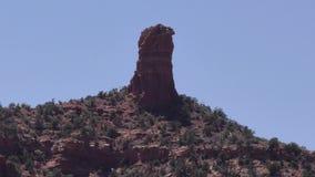 Arizona, Sedona, A view of the Chimney Rock formation in Sedona