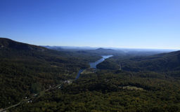 View from  Chimney Rock Stock Photography