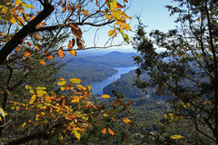View from  Chimney Rock. The view from Chimney Rock in Chimney Rock North Carolina Stock Image