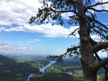 View from Chimney Rock, North Carolina Stock Photo