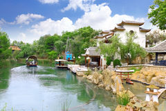 View of the Chinese park. Landscape view of the Chinese park royalty free stock photos