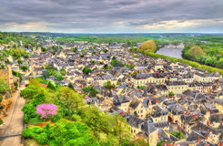 View of Chinon from the castle - France Royalty Free Stock Photography