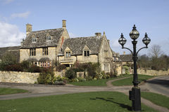 View of Chipping Campden cottages in Spring royalty free stock photo