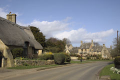 View of Chipping Campden cottages in Spring Royalty Free Stock Images