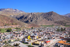 View of Chivay town from overlook, Peru Stock Photos