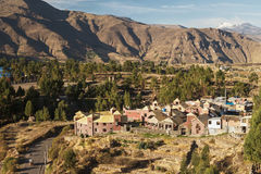View of Chivay town in Peru Royalty Free Stock Photos