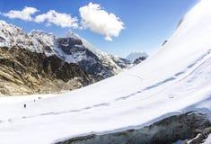 View of Cho La pass, Himalayas in Nepal Stock Photo