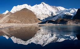 View of cho oyu royalty free stock image