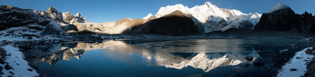 View of Cho Oyu Stock Photos