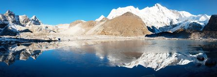 View of Cho Oyu Stock Image