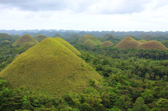 View of the Chocolate Hills, Bohol island. Philippines Stock Photography