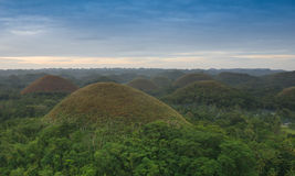 View of the Chocolate Hills in Bohol, Philippines Royalty Free Stock Photos
