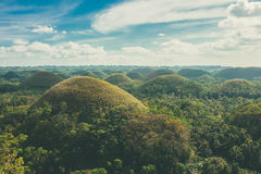 View of the chocolate hills in Bohol, Pilippines Royalty Free Stock Images