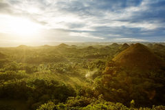 View of The Chocolate Hills. Philippines Royalty Free Stock Images
