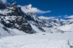 View on Cholatse and Tabuche Peak from Dingboche Royalty Free Stock Images