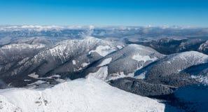 View from Chopok, Slovakia stock image