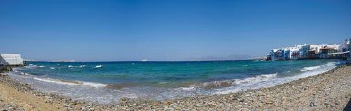 Chora village Little Venice - Mykonos Cyclades island - Aegean sea - Greece royalty free stock photography