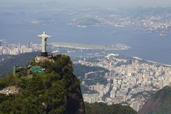 View of Christ Redeemer. Aerial view of Christ Redeemer Royalty Free Stock Photography
