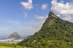 View of Christ the Redeemer, Rio de Janeiro, Brazil. View of Christ the Redeemer from below, Rio de Janeiro, Brazil Royalty Free Stock Photo