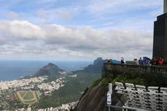 View from Christ the Redeemer statue Brazil Stock Photography