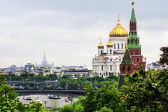 View of the Christ the Savior Cathedral of the Moscow Kremlin to Stock Photos