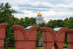 View of the Christ the Savior Cathedral Stock Photo