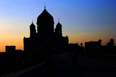 View of the Christ the Saviors church at night. Royalty Free Stock Image